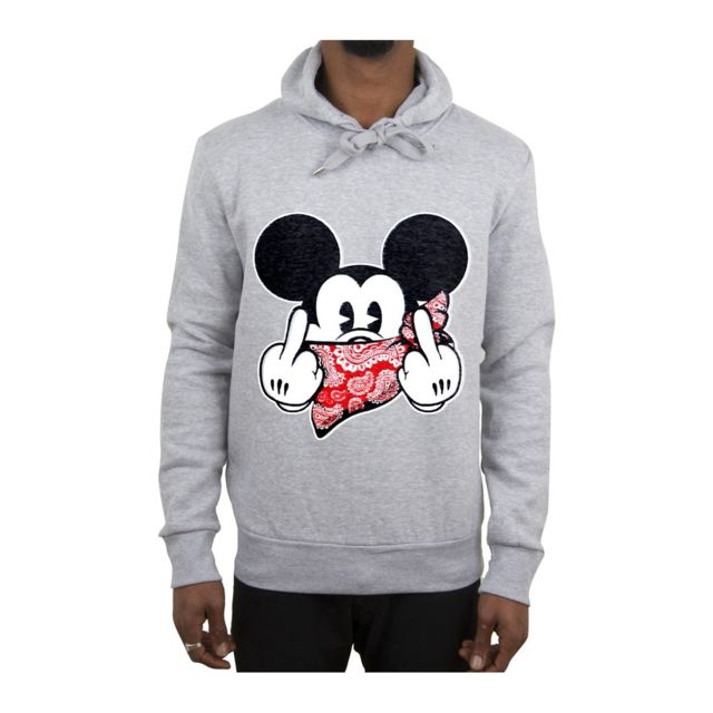 sweat a capuche mickey homme