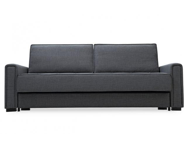 Remarquable Canapé convertible noir design scandinave icare