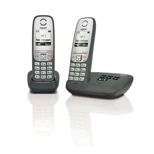 Téléphone fixe sans fil avec répondeur - AS435A - Duo Noir