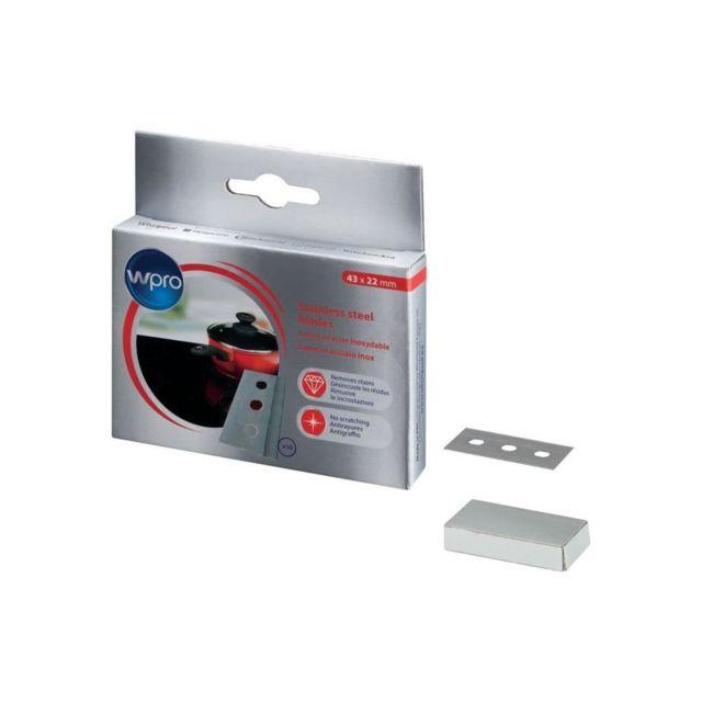 Wpro Bla014 - Boîte de 10 lames en acier inoxysable pour grattoir