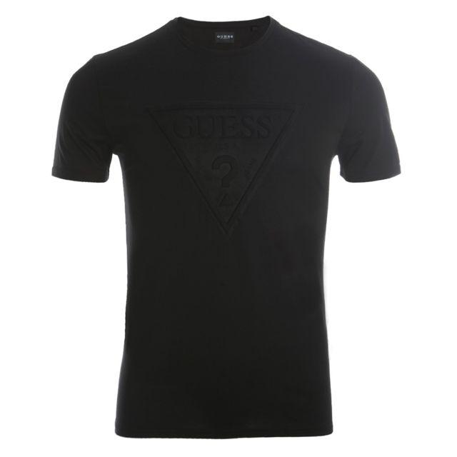 08a81d4dae8700 Guess - T-shirt Homer Cn Ss Tee M84I68K7OK0JBLK Noir - pas cher Achat    Vente Tee shirt homme - RueDuCommerce
