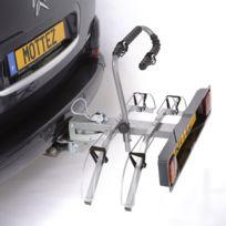 Porte-vélos sur attelage / plateforme pour 2 vélos Montage immédiat sur la boule d'attelage Porte-vélo plateforme attelage 2 vélos Charge maximale 30 Kgs Poids du porte-vélos: 12 Kgs Le porte-vélo plateforme se fixe sur une boule d'att