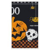 Unique Party - Nappe Halloween boo en plastique 137 x 274 cm