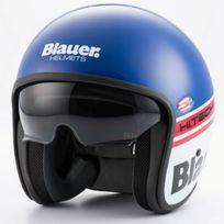 Blauer - casque jet moto scooter Pilot fibre bleu blanc rouge brillant M