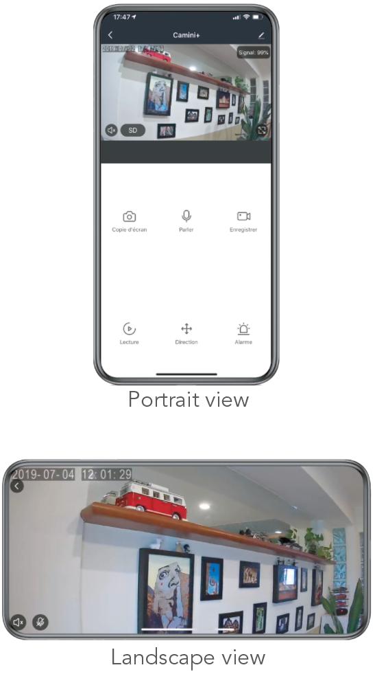 Caméra de sécurité Camini+ Wi-Fi Full HD Tracker Konyks