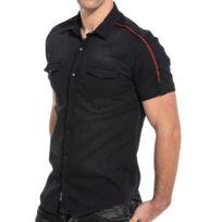 Jeans Chemise en jean à manches longues Homme M, Noir Utrw5593