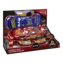 Mattel - Cars - Cars 3 - Voiture interactive Flash Mcqueen 3 en 1