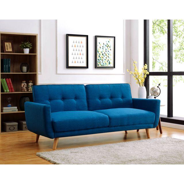 bestmobilier lola canap clic clac scandinave 3 places. Black Bedroom Furniture Sets. Home Design Ideas