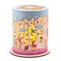 Little Big Room - Mini veilleuse cylindre en papier ajouré bougie led animaux forêt D8.5cmx9.2cm Fleur