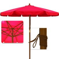 Rocambolesk - Superbe Parasol rouge 350 cm Neuf