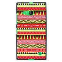 Kabiloo - Coque souple pour Nokia Lumia 735 avec impression Motifs aztèque jaune et rouge