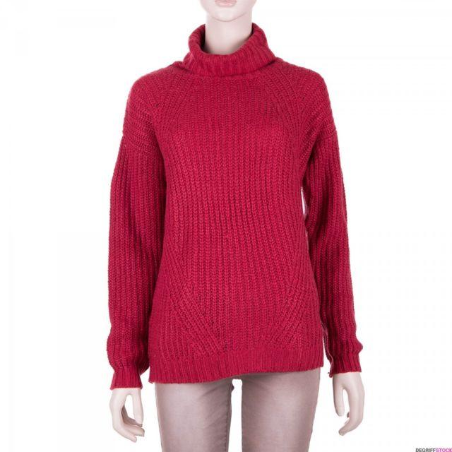 0265d7558ac Best Mountain - Pull col roulé rouge femme - pas cher Achat   Vente Pulls  femme - RueDuCommerce