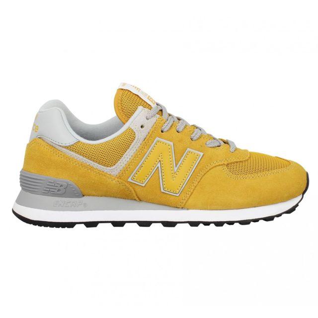 new balance 574 jaune hommes