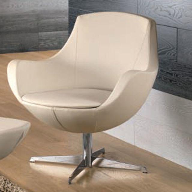Nouvomeuble Fauteuil blanc design Cayenne