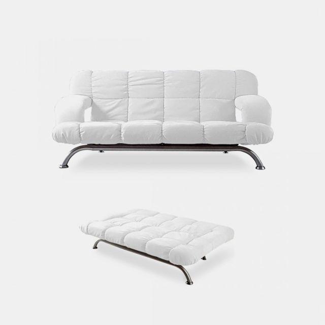 Meubler Design Canapé lit via blanc