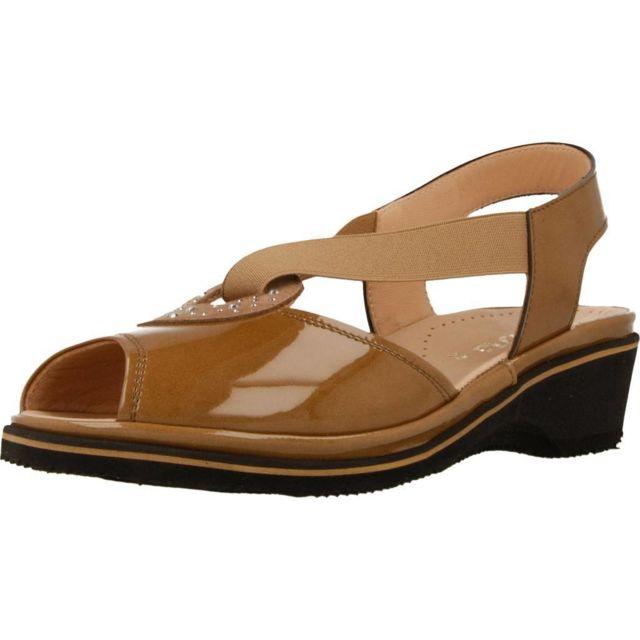 Plaju Mocassins et chaussures bateau femme Lisa, Marron