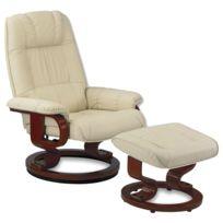 fauteuil cuir beige Achat fauteuil cuir beige pas cher Rue du