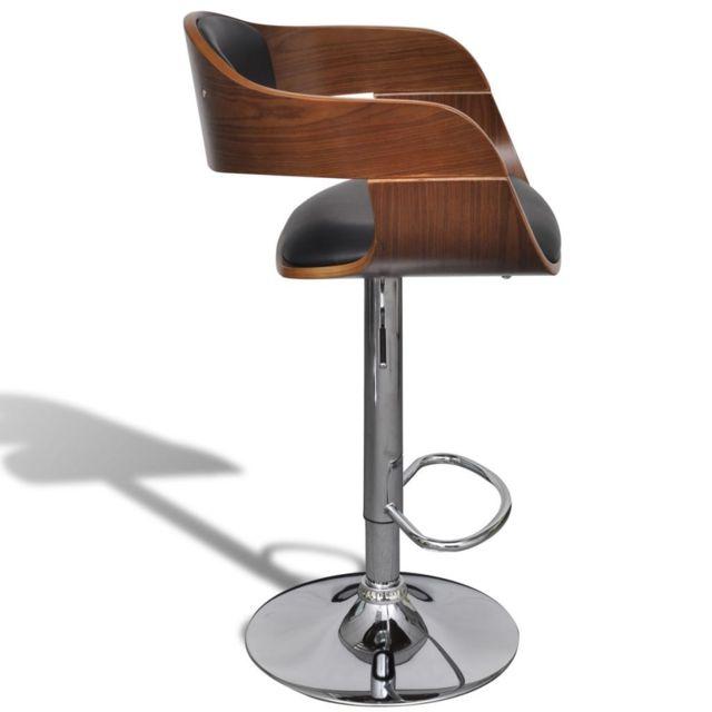 4c245a011aeff No Name - Tabourets et chaises de bar Magnifique Tabouret de bar 2 pcs avec  dossier