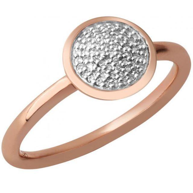 Links Of London Bague 5045-5501 - Bague Diamond Essential Rond en Vermeil Or Rose 18 ct Femme - 57