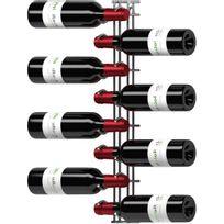 Visiorack - Support mural de 8 bouteilles de 75cl en position horizontale - Chrome Aci-vis600