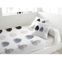 Eden - Parure de lit en percale Copernic blanc