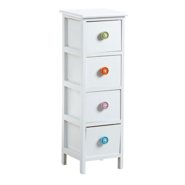 AUBRY GASPARD Commode 4 tiroirs avec boutons
