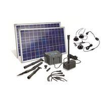 Esotec - Kit pompe solaire Marino Plus Led 50W avec batterie