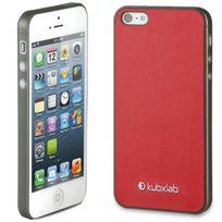 Kubxlab - Coque effet peau rouge iPhone 5