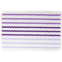 Universol - Tapis salon Tresse rayé violet