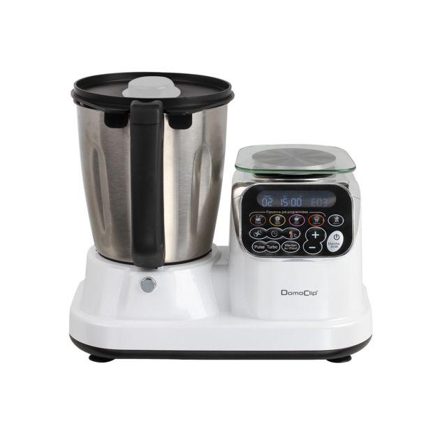 DOMOCLIP Robot culinaire chauffant blanc DOP166