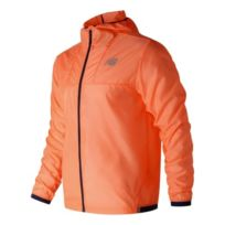35ad726ac17b New Balance - Veste coupe-vent Lite Packjaket Hooded orange - Veste fine