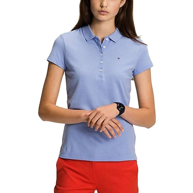 Tommy hilfiger Polo stretch manches courtes pas cher