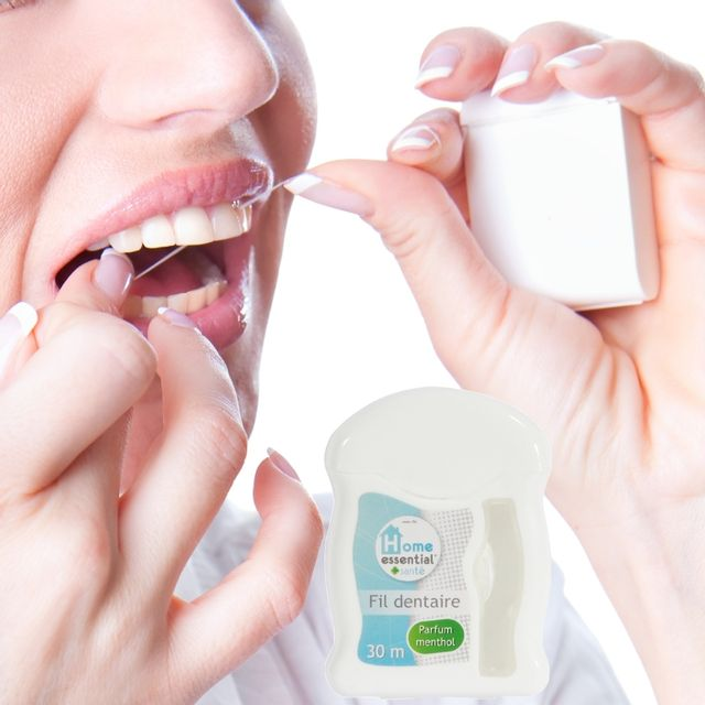 Promobo Distributeur Fil dentaire 30m pharmacie parfum menthol