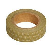 1001decotable masking tape en papier washi or flocons blancs - Objets Bois A Decorer