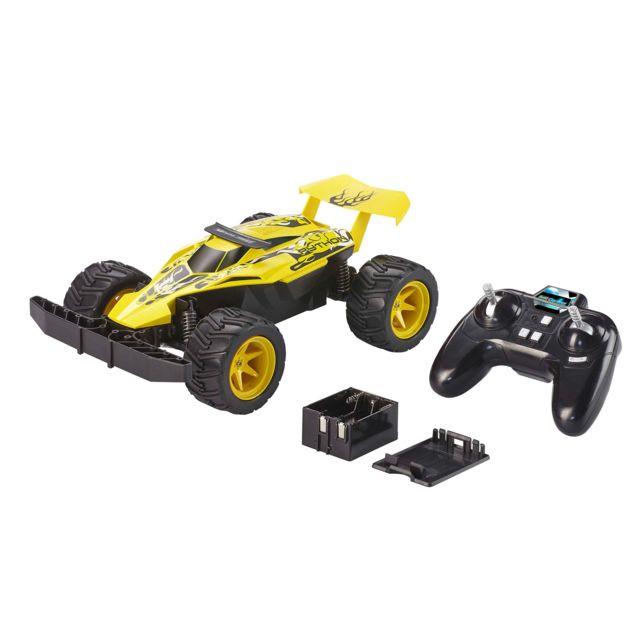 """REVELL Buggy """"Python"""" RadioCommandé Buggy 2 voies, 2,4 GHz. Robuste et adapté aux enfants.Essieu à moteur unique. Suspension avant emboîtable. Moteur brushed puissant. 30 minutes de jeu. Roule jusqu'à 20 km/h. Port&eac"""
