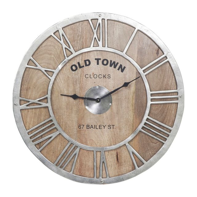 karedesign horloge murale bois old town kare design 4cm x 61cm x 61cm pas cher achat vente. Black Bedroom Furniture Sets. Home Design Ideas