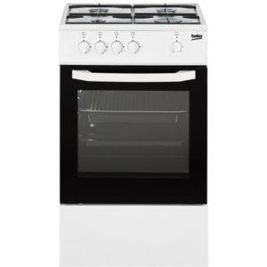 Beko - cuisinière gaz 56l 4 feux blanc et noir - csg42000wn