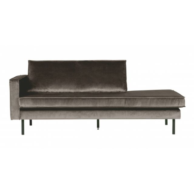 BEPUREHOME Canapé Eugène Daybed gauche Velours