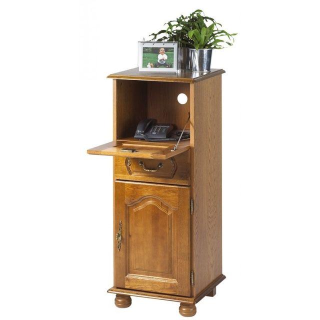 soldes beaux meubles pas chers meuble d 39 entr e ch ne meuble t l phone marron x 106. Black Bedroom Furniture Sets. Home Design Ideas