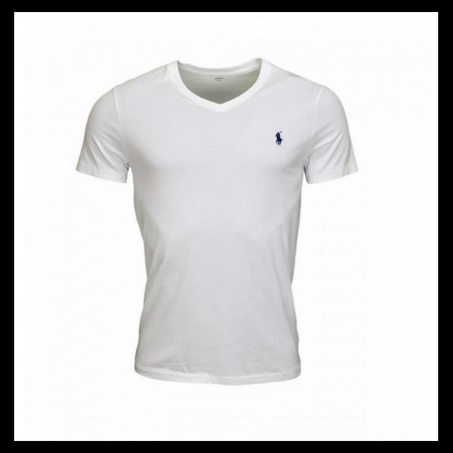 Ralph Lauren - T-shirt Blanc Col V Taille S - pas cher Achat   Vente ... e5706b41ec1a