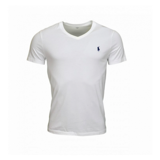 3fe4cf4c8453c1 Ralph Lauren - T-shirt Blanc Col V Taille S - pas cher Achat   Vente Tee  shirt homme - RueDuCommerce