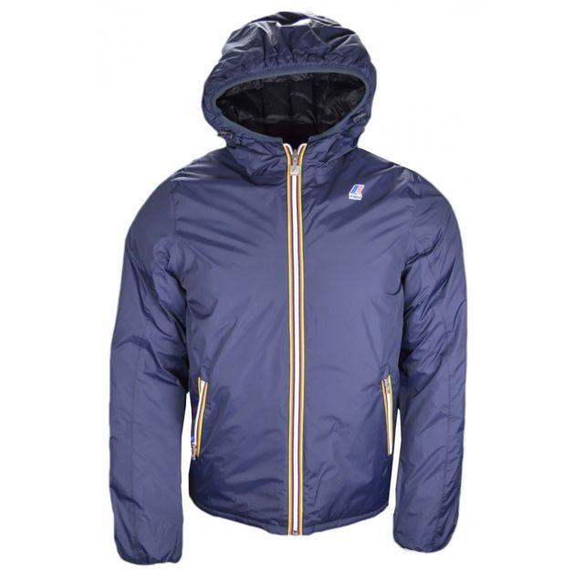 k way manteau r versible jacques thermo plus noir et bleu marine pour homme pas cher achat. Black Bedroom Furniture Sets. Home Design Ideas
