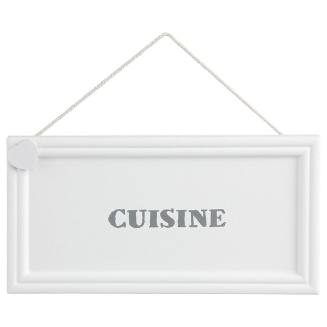 Atmosphera Plaque de porte Cuisine Cold Dream - 20 x 10 - Blanc