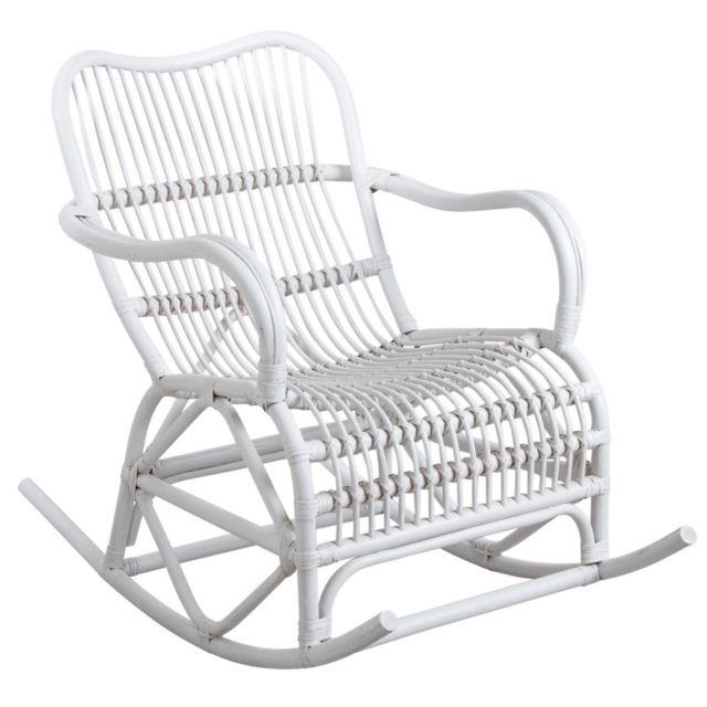 AUBRY GASPARD Rocking-chair en rotin