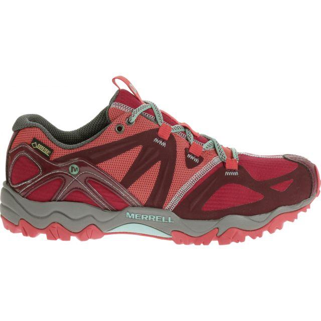 : Rouge Randonnée Chaussures de sport