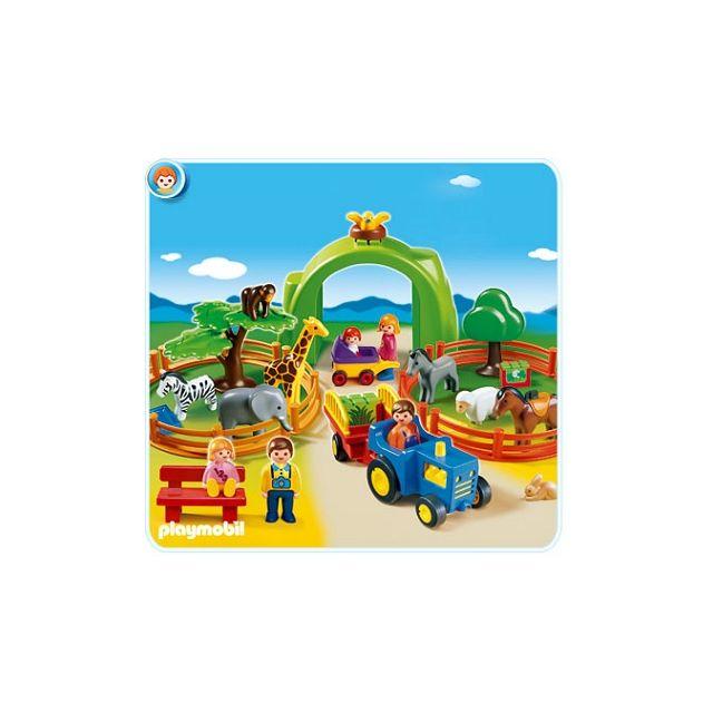 Playmobil - 6754 : Coffret Grand Zoo 123