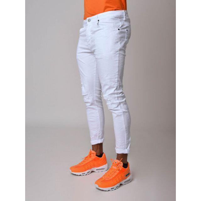 6f3123f4854dc Project X - Jean blanc coupe skinny Homme Paris - pas cher Achat / Vente Jeans  homme - RueDuCommerce