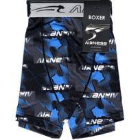 Airness - Boxer Homme Microfibre Energy Gris Bleu