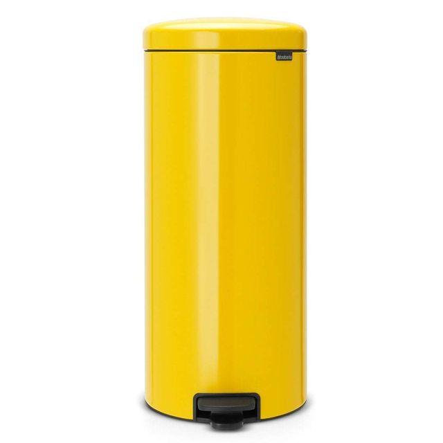 Brabantia poubelle newicon 30 l jaune pas cher achat Achat poubelle cuisine