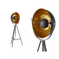 Insideart - Lampadaire Movie - H. 166 cm - Bicolore intérieur doré extérieur noir de la marque Inside Art